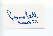Ronnie Bull Chicago Bears Philadelphia Eagles Baylor Bears Signed Autograph