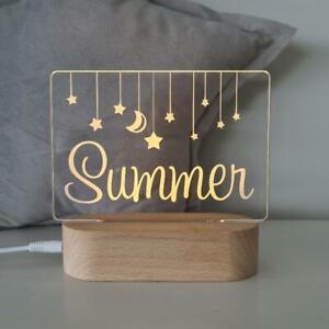 Personalised Baby Night Light - Hanging Stars