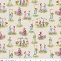 Anne of Green Gables fabric  Riley Blake 100% cotton parchment
