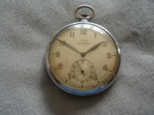 "CHROME ""CYMA""trusty 15 jewel LEVER MOVEMENT 1920/30s POCKET WATCH"