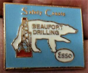 ESSO RESOURCES BEAUFORT SEA DRILLING IMPERIAL OIL Lapel Pin MINT CANADA