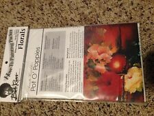 Bob Ross FLORALS How To Painting Packet 'Pot O' Poppies with Pattern FREE SHIP