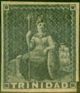 Trinidad 1854 Dark Grey SG10 Fine Mtd Mint