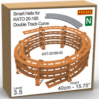 """N Helix For KATO 20-185 Double Track R:447/480mm or Similar - Height: 40cm/15.8"""""""