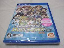 New 7-14 Days to USA. PS Vita The IdolM@ster Must Songs Blue Ao Ban Japanese Ver