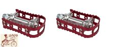 "MKS BM-7 ALLOY RED 9/16"" BICYCLE PEDALS"