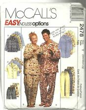 McCALL'S 2478 NIGHT SHIRT OR TOP PULL ON PANTS OR SHORTS NEW & UNCUT PATTERNS