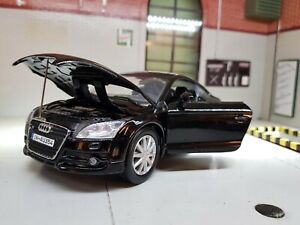 1:24 Scale Model Audi TT 3.2 V6 Mk2 2007 Quattro Motormax Diecast Car Black