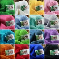 50g Super Soft Natural Smooth Bamboo Cotton Knitting Yarn Ball Cole 20 Colors LT