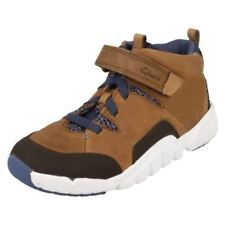 Clarks Boys' Boots with Hook & Loop Fasteners
