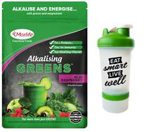 Morlife Alkalising Greens Acai Raspberry 300g  | Alkalize + FREE Shaker