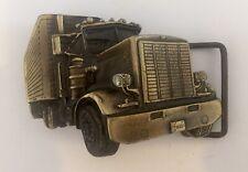 Vintage Trucker Truck design metal Belt Buckle