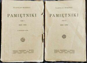 1927   PAMIETNIKI Wladyslaw Mickiewicz   Polish book   volume I & II
