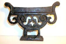 "Antique Victorian Cast Iron Boot Shoe Scraper Marked ""4"" Heavy Duty 6 x 4"""