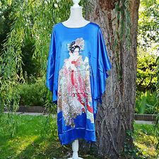 Déshabillé chemise de nuit caftan taille unique 38 au 50 bleu Chinois ZAZA2CATS