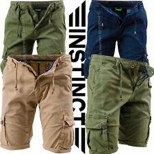 Bermuda Uomo Tasche Laterali Cargo Shorts Pantaloni Corti Pantaloncini INSTINCT
