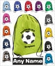 Football Kit Bag Personalised Drawstring School Gym Bag PE Kit Sports Kids