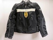 NWT Men's Custom Bates Leathers Black Motorcycle Jacket Sz. Small (LOC 42K)