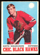 1970 71 OPC O PEE CHEE 151 KEITH MAGNUSON EX+ RC CHICAGO BLACK HAWKS ROOKIE CARD