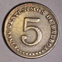 5 Cinco Centesimos 1962 Münze Coin Republica de Panama Balboa