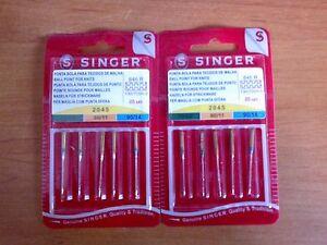 LOT DE 2 paquets aiguilles singer pour  machine a coudre pour mailles