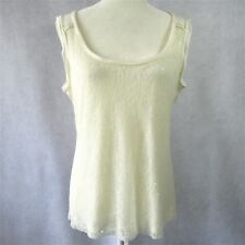 d6fd12a083b1d NEW ELIE TAHARI WHITE LACE SEQUENCE SLEEVELESS TOP BLOUSE SIZE MEDIUM