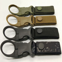 Belt Buckle Water Bottle Holder Clip Outdoor Camping Hiking Tactical Carabiner