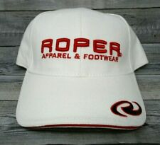 Roper Apparel and Footwear Hat White Cap Red Embroidery