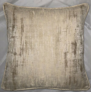 A 16 Inch cushion cover in Laura Ashley Whinfell Gold fabric