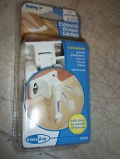 Bnip Safety 1St Cabinet & Drawer Latches 48303 Pack Of 4 White Spring Loaded