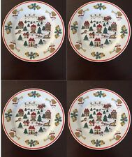 set of 4 Jamestown China JOY OF CHRISTMAS Plate 7.3 in