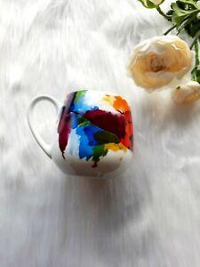 Konitz Watercolour Flow Multicoloured Art Snuggle Mug Porcelain Coffee Cup