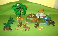 Playmobil Spielset Wald & Waldtiere Bäume Tanne Tiere Konvolut