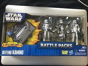 Star Wars Battle Packs Clone Wars Defend Kamino Fives Echo Blitz New 2011 Hasbro