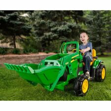 Peg Perego John Deere Kids Ground Loader Tractor 12 Volt Battery Powered Ride-On