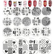 Born Pretty estampacion uñas imagen Placa Manicura Plantilla para Hazlo tú mismo plantilla de diseño de sello