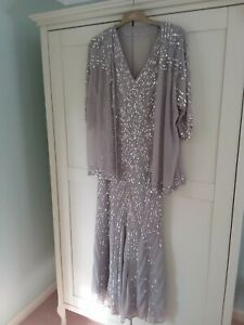 Ann Harvey evening dress and jacket. Size 16-18