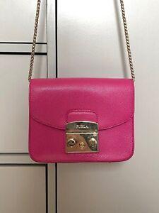 Magenta Pink FURLA Mini Metropolis Cross Body Bag - Great condition - RRP £235
