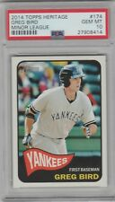 "Greg Bird 2014 Topps Heritage Minors Rookie PSA/DNA GEM MINT 10 "" NY Yankees"""