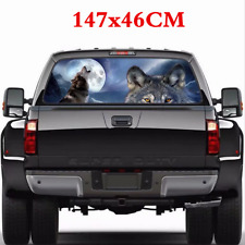 147*46CM Car Rear Window Wolf Tribe Graphics Decal Sticker Exterior Accessories