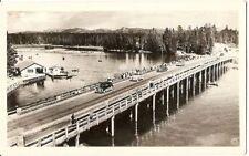 HAYNES REAL PHOTO Postcard YELLOWSTONE NATIONAL PARK WY  Fishing Bridge 1940's?