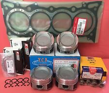 YCP 75mm STD Vitara Pistons LowComp +NPR Rings+ Bearings+ Gasket Honda D16 Turbo