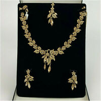 Kyles Gold Jewellery Set Necklace And Earrings With Tikka Gold Plated