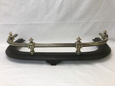 RESTORED Antique Fireplace Fender Cast Iron & Brass Victorian Egyptian c. 1800s