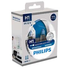Genuine Philips H1 White Vision 3700k Halogen Lamps + 2 W5W 12258WHVSM (1 set)