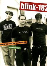BLINK-182 2001 TAKE OFF YOUR PANTS AND JACKET TOUR CONCERT PROGRAM BOOK