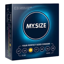 My Size - Natural Latex Condom in Seven Sizes 53 Width 3 Pcs He27202