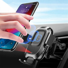 Qi Car Wireless Charger For iPhone Xs Max XR X Samsung Intelligent Infrared Sens