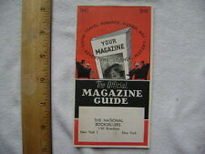 1945-1946 Magazine Guide. Small 30 page catalog for Magazine Subscriptions