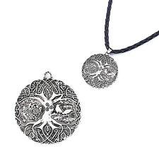 5pcs Silver Nordic Vikings Soldier Horse Tree Raven Runes Charms Pendant 36mm